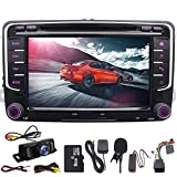 Doble Din GPS 7 coche reproductor de DVD para salpicadero GPS USB SD FM AM RDS autoradio Bluetooth, para Volkswagen Golf 5 6 Polo Jetta Touran Eos Passat CC Tiguan Sharan Scirocco Caddy Canbus