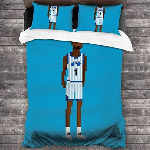KUKHKU Penny Hardaway Ganzkörper-Bettwäsche-Set, Bettdeckenbezug, 218 x 70 cm, Queen dekoratives 3-teiliges Bettwäsche-Set mit 2 Kissenbezügen