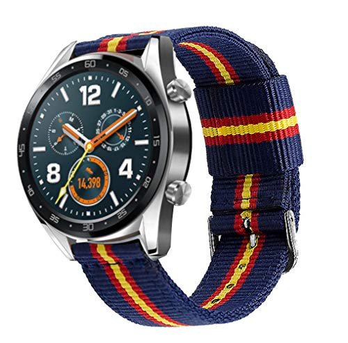 Estuyoya - Pulsera de Nailon compatible con Huawei Watch GT 2 / Huawei Watch Sport/GT Classic...