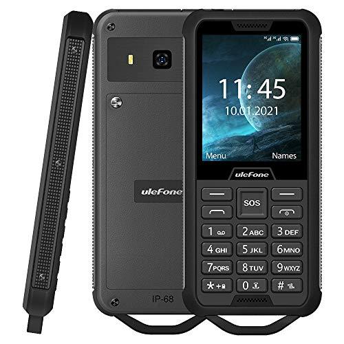 Ulefone Armor Mini 2 Móvil Resistente, Dual SIM gsm Teléfono Teclado Clásico, IP68 Impermeable Antigolpes A Prueba de Polvo, SOS, Cámara 0.3MP,2100mAh Batería Extraíble (19 Días En Espera) FM Negro