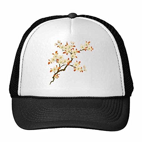 DIYthinker bladeren bloem plant decoratieve behang muur schilderen illustratie patroon trucker hoed honkbal pet nylon mesh hoed verstelbare pet