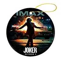 Jokerクリスマス オーナメント 飾りース 小さい 装飾品 記念品 丸型 陶磁器 両面印刷 縄をかける 7.2cm クリスマスツリーオーナメント