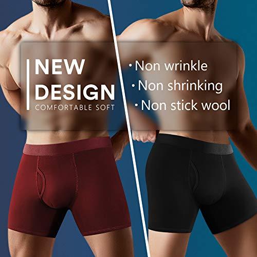 Natural Feelings Boxers Homme Calecon Homme Coton Mouche Ouverte sous Vêtements Homme Lot de 5