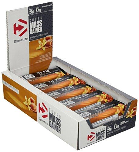 Dymatize Super Mass Gainer Bar – Protein-Riegel mit Casein und Whey Protein – Weight Gainer Riegel / 10 x 90 g Vanilla Caramel Fudge
