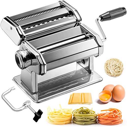 pas cher un bon Machine à pâtes manuelle Sailnovo en acier inoxydable pour la fabrication de lasagnes spaghetti aux tagliatelles…