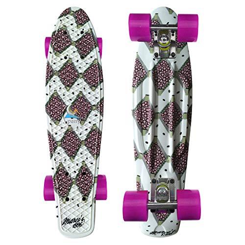 SHUNAGA Skateboard für Kinder Jungendliche und Erwachsene, Komplettboard mit Transparent Leuchtrollen