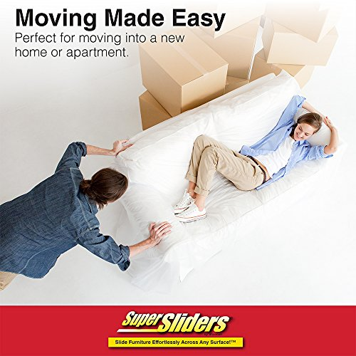 "Reusable Furniture Movers for Heavy Furniture for Carpeted Surfaces (4 Pack) - Oval SuperSliders, 9-1/2"" x 5-3/4"""