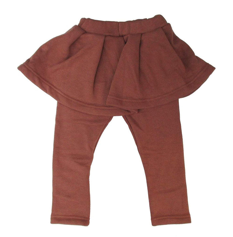 スカッツ スカート 裏起毛 レギンス スパッツ 暖かい 女の子 子ども キッズ 裏シャギー シンプル 防寒 スカート付きレギンス 無地 女の子 キッズ