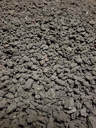 Der Naturstein Garten 12,5 kg schwarzer Lava Mulch 2-8 mm - Pflanzgranulat Lavasteine Kies Kiesel Lavamulch Dachbegrünung Substrat Lavagranulat - Lieferung KOSTENLOS