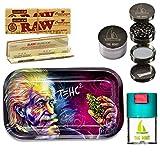 THE BOAT Kit para Fumar - Bandeja para Liar Einstein T=HC2 27cm x 16cm + Raw...