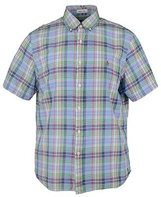 Ralph Lauren Polo Men's Classic-Fit Madras Lightweight Short Sleeve Plaid Cotton Shirt