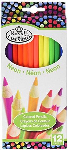 ROYAL BRUSH RTN-158 Neon Colored Pencils-12/Pkg