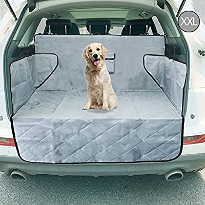 upra Trunk Cargo Liner Covers for Dogs, Quilted Waterproof Oxford Pet Cargo Seat Cover/Car Floor Mat, Machine Washable & Nonslip Backing with Flaps Protection, Universal Fit for All Vehicles (XXL)