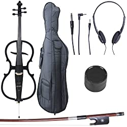 Cecilio 4/4 CECO-1BK Electric Cello - Best Cecilio Electric Cellos
