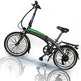 Vicicleta Eléctrica, 350W 36V 10AH/Motor Bicicleta Plegable 25 km/h, 3 Modos de conducción,Resistencia 50-55 kilómetros, Bike Black, Adultos Unisex,Bici Electricas Adulto,