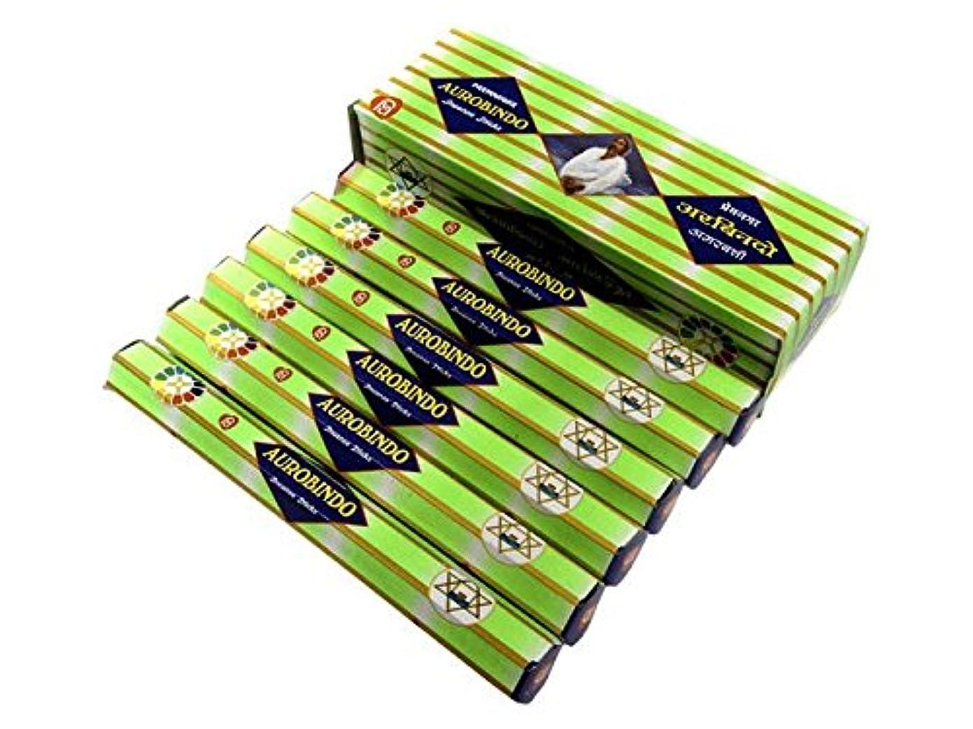 プレート聞く習慣ANANTH(アナンス) オーロビンド香 スティック AUROBINDO 6箱セット