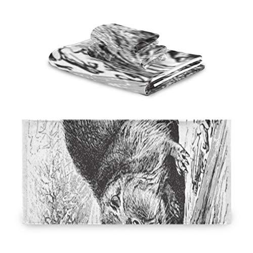 Generies Farbe Handtuch Set Eurasian Beaver Castor Fiber Vintage Dekor Handtuch Set Extrem saugfähig, Schöne 3 Stück Handtuch Set 1 Badetuch, 1 Handtuch, 1 Waschlappen