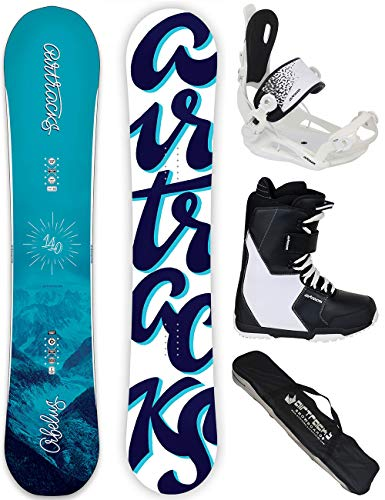 Airtracks Damen Snowboard Set - Board ORBELUS 140 - Softbindung Master - Softboots Savage W 39 - SB Bag
