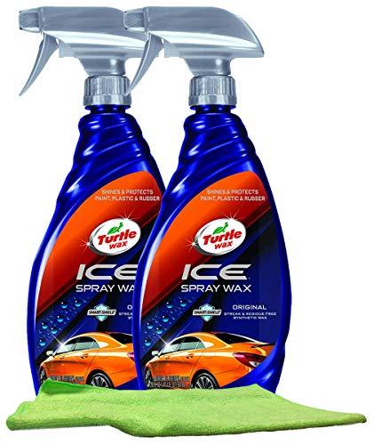 Turtle Wax ICE Synthetic Spray Wax (20 oz.) Bundle with Microfiber Cloth (3 Items)