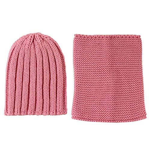 hongxinq Conjunto de Pañuelo para El Cuello de Punto de Color Puro de Invierno para Bebés Y Niños Pequeños para Niñas Y Niños
