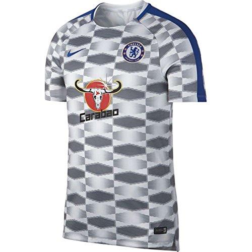 Nike 2017-2018 Chelsea Pre-Match Training Football Soccer T-Shirt Trikot (White) - Kids