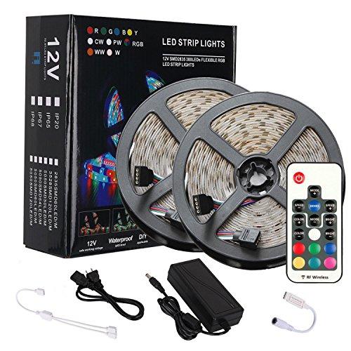 LEDテープライト防水高輝度RGBLEDテープSMD283510M600連テープled間接照明カラー選択切断可能リモコン操作12Vテープライト