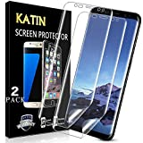 KATIN Galaxy S8 Plus Screen Protector - 3D TPU Screen Protector For Samsung Galaxy S8 Plus [Full Max Coverage] Case Friendly, Easy to Install, No-Bubble, 2-Pack