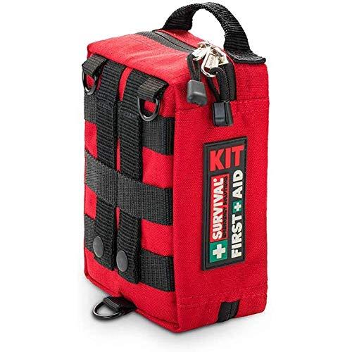 GOXJNG Medizin Box Set wasserdichte Medizin-Tasche Erste-Hilfe-Kit Oxford Cloth Medical Container Notfall und Überleben Fall ideal for die Freie Auto Camping (Color : Red)