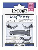 Eylure False Eyelashes Lengthening Starter Kit, Style No. 118, Reusable, Adhesive Included, 1 Pair