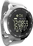 JSL Smartwatches Montre connectée étanche IP68 avec compteur de calories et podomètre Vert/noir/argenté