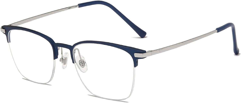Blue Jacksonville Mall Light Blocking 4 years warranty Eyeglasses Frame+β Al-Mg Titanium Temples