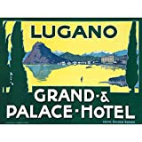 Wee Blue Coo Advertisement Travel Grand Palace Hotel Lugano