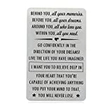Graduation Gifts for Son Daughter with Inspirational Quote, Engraved Wallet Insert for Him, Birthday...
