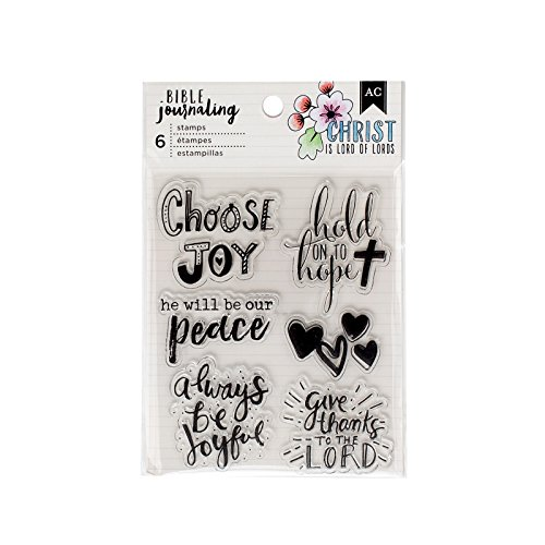 American Crafts 6 Piece Shield Acrylic Stamp Bible Journaling