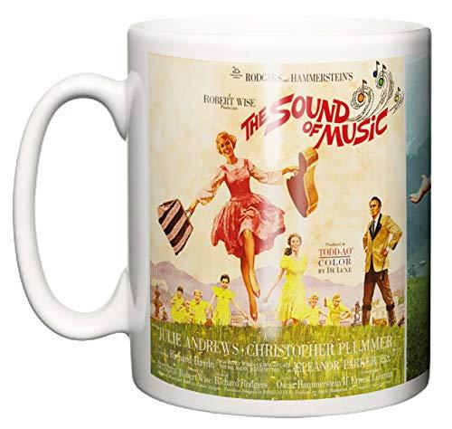 IIE, Classic Movie Musical The Sound of Music Poster & Scene, 1965 Julie Andrews, taza de café o té de cerámica