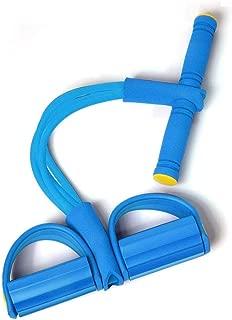 WJSW Fitness Tube Rope, Tensor de Tobillo Cuerda elástica Abdominales Movimiento Ejercitador de Yoga Auxiliar (Color: Púrpura)