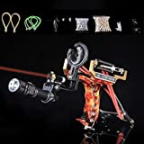 Obert Hunting Slingshot Catapult High Velocity Laser Flashlight Slingbow Shooting Arrows Hunt Fish