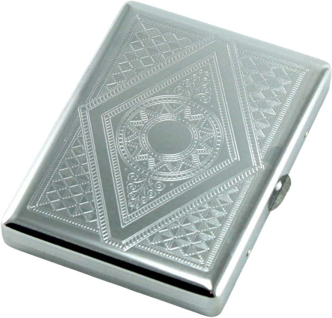 SKYWAY Barcelona Silver Cigarette Case Over item handling ☆ Double 100's for Holder - gift