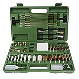 Gtytrxi Kit de limpieza universal, kit de limpieza de cepillo de tubo portátil con estuche de viaje, juego de cepillos de limpieza para todas las armas de caza