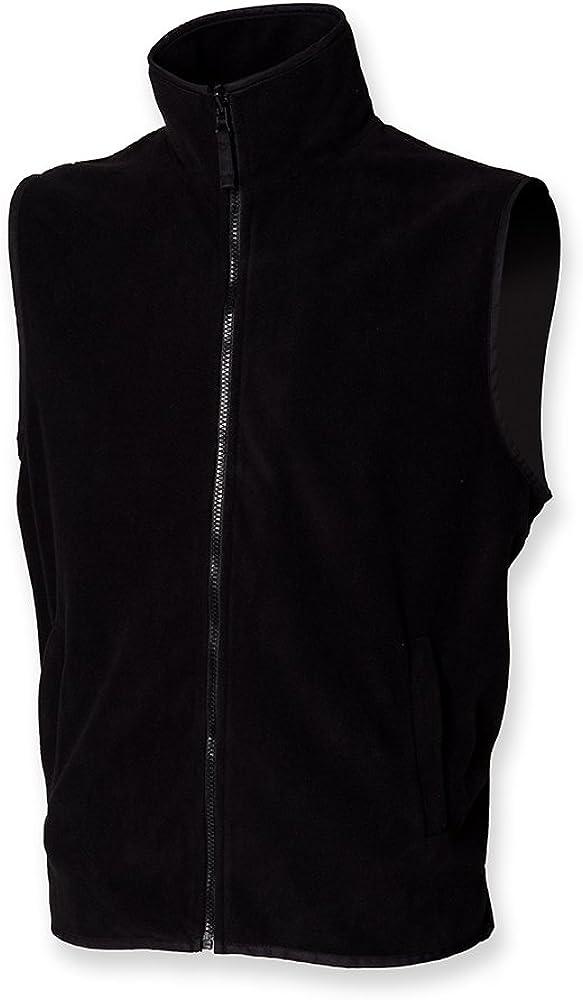 Henbury Men's Sleeveless Micro Fleece Jacket