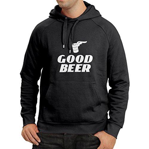 lepni.me Kapuzenpullover Ich Brauche EIN gutes Bier, Geschenk für Bierliebhaber Partykleidung (XXX-Large Schwarz Fluoreszierend)