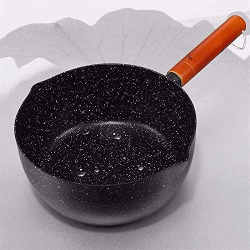 Sartenes para Leche Leche Tapa Aleación Aluminio Sartén para Leche Sopa Utensilios Cocina Piedra Madera Han Leche Sartén Universal(Tamaño:22 cm)