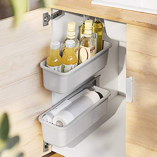 Baffect 2 pcs Sliding Basket Cabinet Organizer for Kitchen Bathroom, Pull...