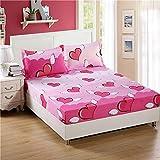 huyiming Verwendet für Einteilige Bettdecke Simmons Schutzhülle Bettgarnitur 1,5 Einzelbettpolsterset Staubschutzhülle doppelt 1,8m Bett 180cm * 200cm