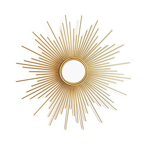 YXYH Casa Baño Espejo Pared Sunburst Espejos Decorativos Golden Art Espejo Colgante Pared Metal para El Dormitorio Sala Estar Entrada Hogar Salón Mirror (Size : 39.4inch)