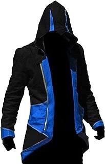 Men's Costume Hoodie Jacket Cosplay Coat with Attachable Hood