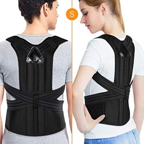 PINCOU Corrector de postura para la espalda, para hombres y mujeres, soporte para alisador de clavícula ortopédica para encorvar, cazar, alivio del dolor de cuello y correas de corrección