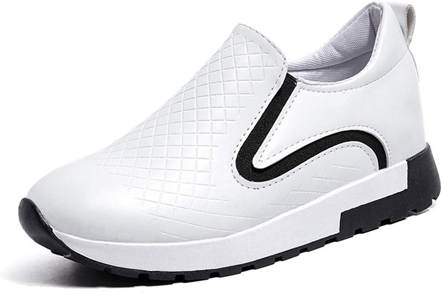 Btrada Spring Platform Slip on Women Vulcanize shoes White Casual Female Thick Sole Wedges Sneakers
