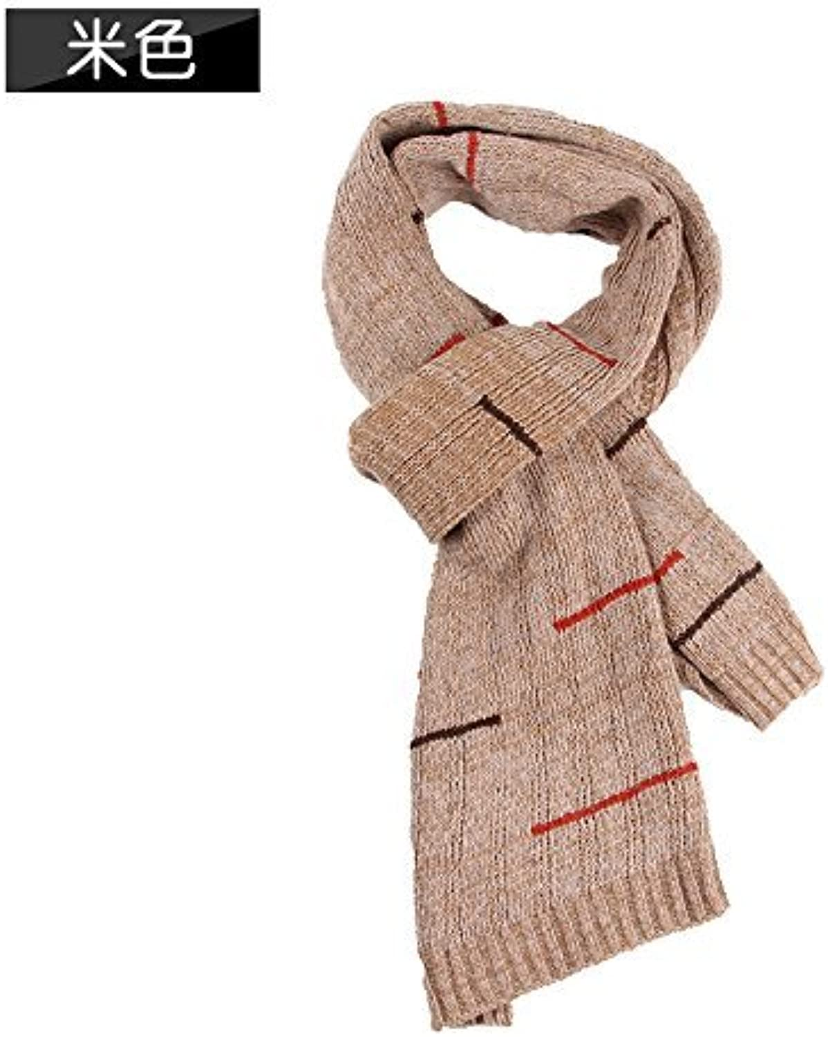 DIDIDD Men'S Scarf Winter Thickening Warm Knitting Autumn and Winter