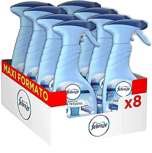 Febreze Spray Profumatore Armadio, Profumo di Lenor Risveglio Primevarile, Maxi Formato, Elimina gli Odori Forti e Persistenti, Adatto sui Tessuti, Nebulizzazione Leggera, Confezione de 8 x 500 ml